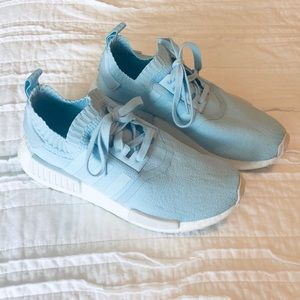 Almost new- Baby blue adidas NMD sneakers